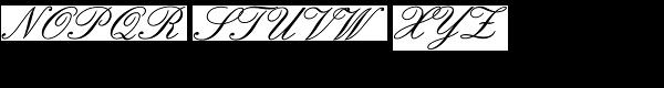 English 157 BT Font UPPERCASE