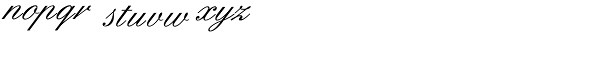 English 157 BT Font LOWERCASE
