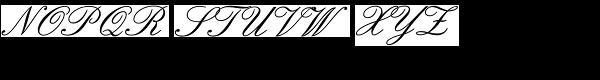 English 157 Font UPPERCASE
