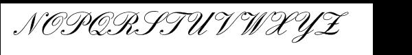 English Script Demi Font UPPERCASE