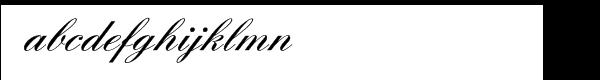 English Script Demi Font LOWERCASE