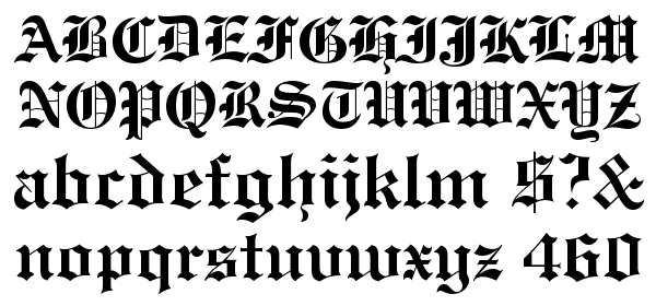 Engravers\' Old English Bold BT Font