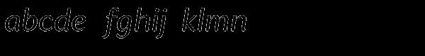 Espuma Pro Italic Font LOWERCASE
