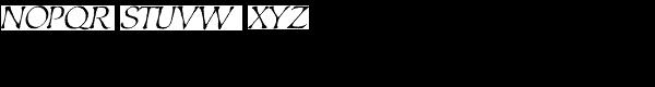 Estonia Font UPPERCASE