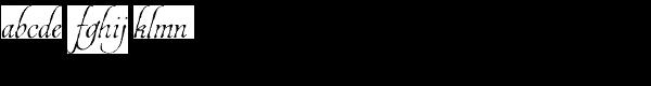 Estonia Font LOWERCASE