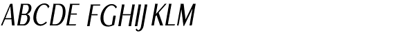 Euro Sans Cond Light Obl Font UPPERCASE