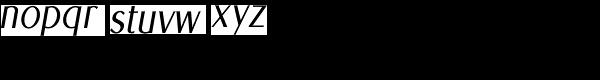 Euro Sans Cond Light Obl Font LOWERCASE