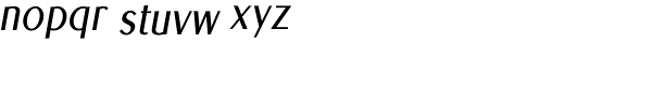 Euro Sans Cond Obl Font LOWERCASE