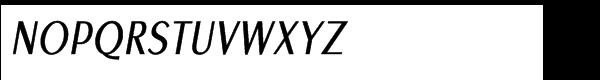 Euro Sans Pro Condensed Oblique Font UPPERCASE
