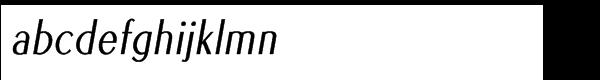 Euro Sans Pro Condensed Oblique Font LOWERCASE