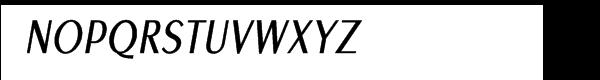 EuroSansPro Condensed Oblique Font UPPERCASE