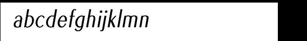 EuroSansPro Condensed Oblique Font LOWERCASE