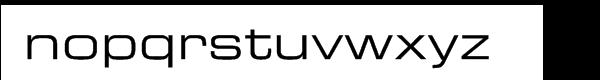 Eurostile® Extended No. 2 Font LOWERCASE