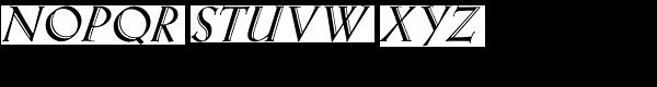 Eva Antiqua Heavy Italic Font UPPERCASE
