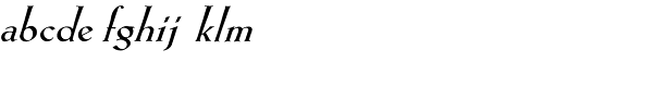 Eva Antiqua Heavy Italic Font LOWERCASE