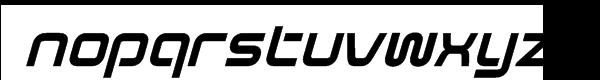 Evolver Italic Font LOWERCASE