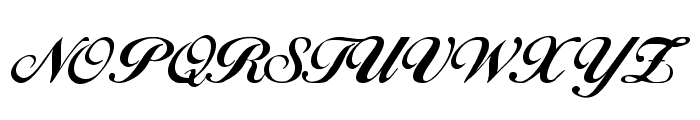 Excalibur Script Font UPPERCASE