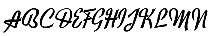 Exiles Font UPPERCASE