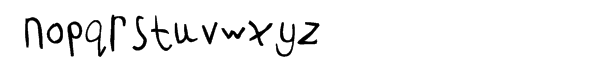 FF Childs Play Age 8 Font LOWERCASE