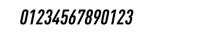 FF DIN Pro Condensed Bold Italic Font