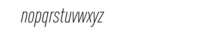FF DIN Pro Condensed Light Italic Font