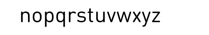 FF DIN Round Pro Regular Font LOWERCASE