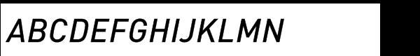 FF DIN Std Medium Italic Font UPPERCASE