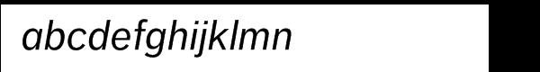 FF Dagny Pro Regular Italic Font LOWERCASE