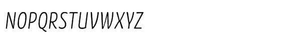 FF Kava Std Light Italic Font UPPERCASE