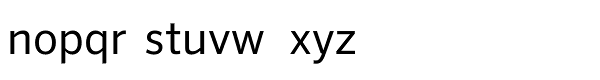 FF Sero Offc Pro Regular Font LOWERCASE