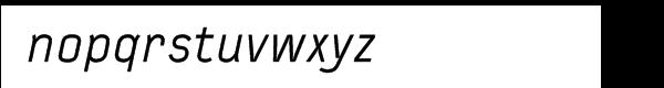 FF Typestar Regular Italic Font LOWERCASE