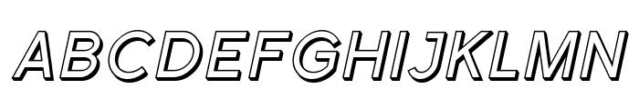 Florencesans SC Shaded Italic Font UPPERCASE