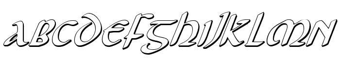 Foucault 3D Italic Font UPPERCASE
