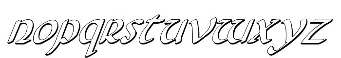Foucault 3D Italic Font LOWERCASE