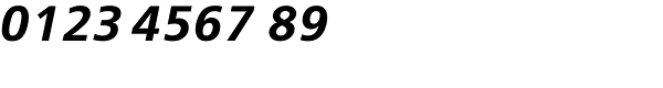 FreeSet Demi Bold Oblique Font OTHER CHARS