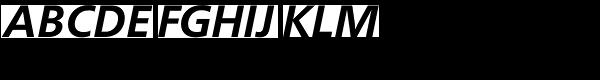 FreeSet Demi Bold Oblique Font UPPERCASE