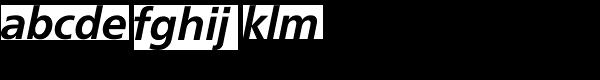 FreeSet Demi Bold Oblique Font LOWERCASE