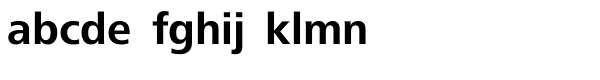 Frutiger Next Com Bold Font LOWERCASE