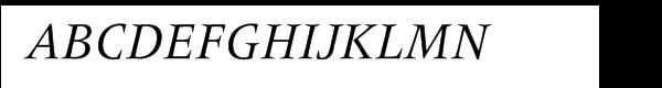 Frutiger® Serif Pro Italic Font UPPERCASE