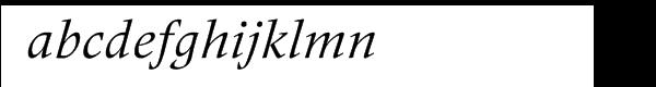 Frutiger® Serif Pro Italic Font LOWERCASE