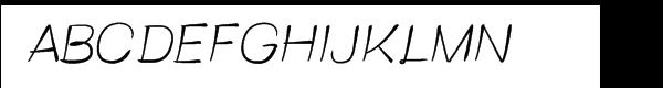 FT Brush Light Font UPPERCASE
