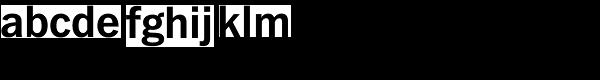 Fuller Sans DT-Bold Font LOWERCASE