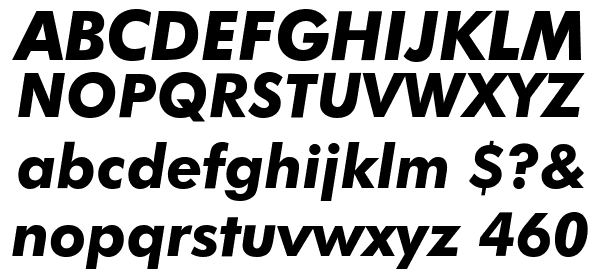 Futura Bold Italic BT Font