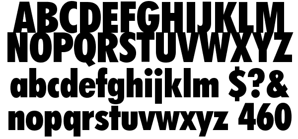 Futura Extra Black Condensed BT Font