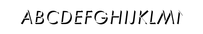 Futura Only Shadow Light Oblique OT Std Font