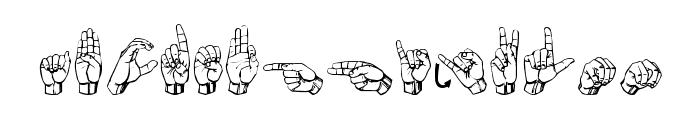 Gallaudet Regular Font LOWERCASE