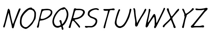 GargleRg-Italic Font UPPERCASE