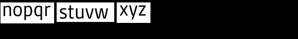 Gesta Semi Condensed Regular Font LOWERCASE