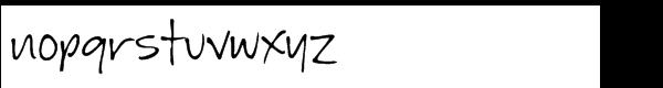 GFY Jeanna Regular Font LOWERCASE