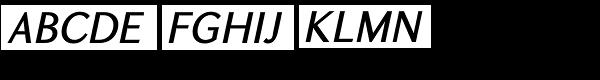 GHEA Koryun Medium Italic Font UPPERCASE